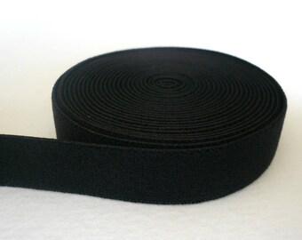 Bra/Lingerie Band Elastic. Plain Band Black Elastic. Plush Back. Black Colour - 10mm Wide