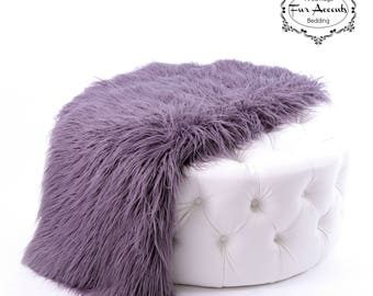 Plush  Faux Fur Throw Blanket - Bedspread Soft Plush Shag - Luxury Fur - White, Black, Gray 6 Sizes Minky Cuddle Fur Lining Fur Accents USA