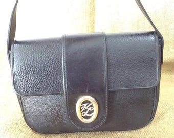 10% OFF SALE Genuine vintage Karl Lagerfeld black leather shoulder bag purse