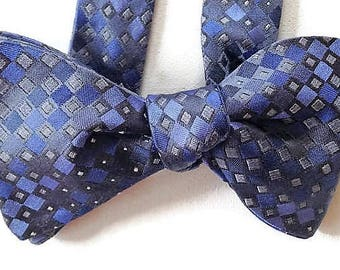 Silk Bow Tie for Men - Intrigue - One of-a-Kind, Handtailored, Self-tie - Free Shipping
