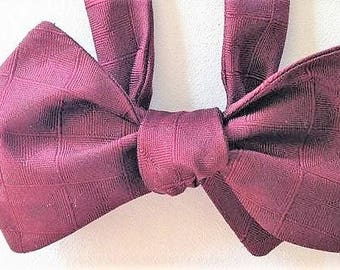 Silk Bow Tie for Men - Executive Suite , Handcrafted, Self-tie - Free Shipping