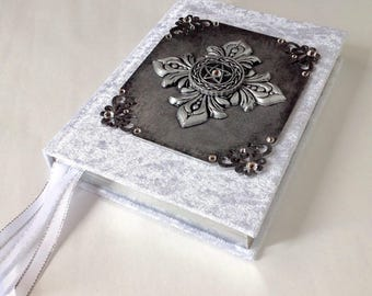 White Magic Book of shadows journal/Handcrafted spell book