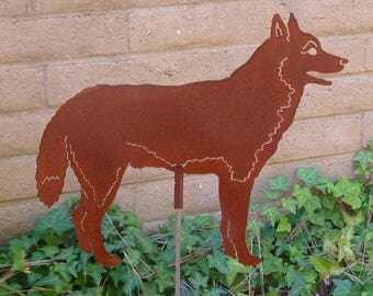 Siberian Huskie, Garden Stake, Pet Memorial, Ornament, Steel Yard Art, Dog Breed Specific, Rustic