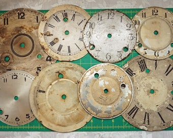 8 Vintage Clock Faces