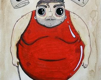 Gargantua The Fat Man! print, sideshow, freakshow, carnival, horror, freaks
