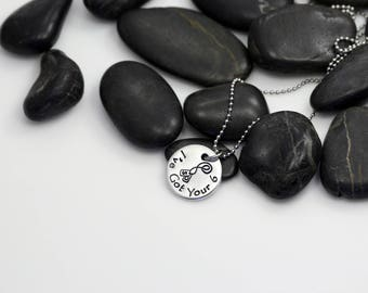 I Love My I've Got Your Six Hand Stamped | Custom | Necklace