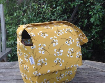 Insulated Lunch Bag Mustard Yellow, Work Lunch Bag, School Lunch Tote, Reusable Lunch Bag