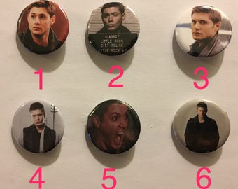 Dean Winchester Supernatural Buttons, Magnets, or Key chain