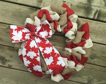Canada Day Wreath, Canada Wreath, Canadian Decor, Maple Leaf