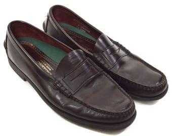 Vintage 80s Sebago Penny Loafers Shoes Sz 11 D