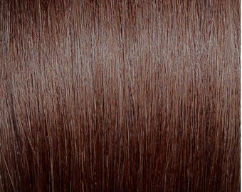 """Miss Flirty Remy Hair Extensions Clip-In 22"""" Long Chocolate Auburn #4"""