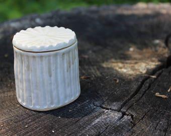 Trinket Box. Ceramic Box. Handmade Ceramic Box. Small Lidded Box.