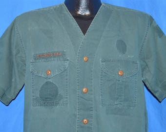 50s Boy Scouts of America Explorers Uniform Shirt Large