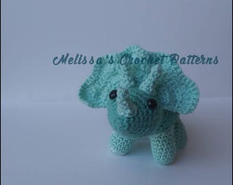 Crochet Pattern ~ Jonathan the Triceratops