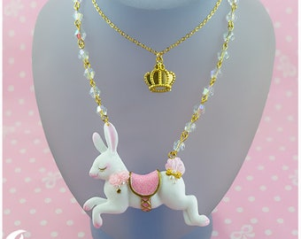 Carousel bunny Necklace