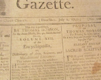 Porcupine's Gazette. Thursday July 6, 1797  Vol. 1. No, 106. Federalist Party