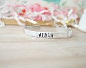 Aloha Cuff Bracelet - Hand Stamped