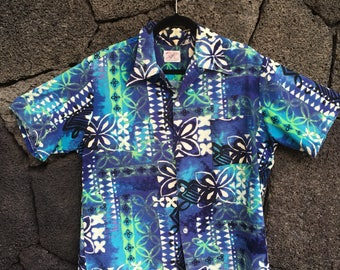 1970's Barkcloth Aloha Shirt