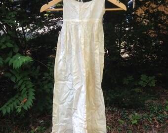 child's antique Victorian white dress - christening dress?
