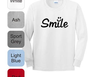 Inspirational Positive Message Great Gift Idea Smile Youth Long Sleeve T-Shirt 2400B - RT-320