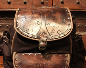 Adventurer's Backpack for LARP, action roleplaying and cosplay