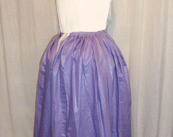 18th Century Woman's Solid color Petticoat Lilac - small waist
