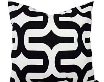 15% OFF SALE Two Black White Pillow Covers - Two Black and White Pillows 12x16 12x18 14x14 16x16 18x18 20x20 22x22 24x24 26x26 Pillow Covers