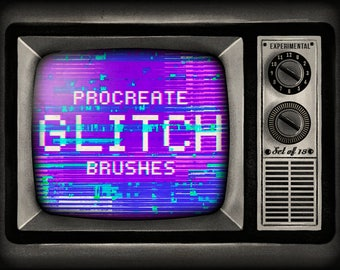 Glitch Procreate Brushes - Set of 18 brushes - For the iPad app Procreate - Digital brushes - Digital art resources