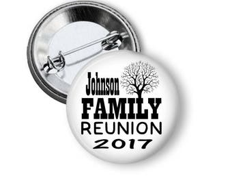Personalized Family Reunion Pins, Reunion Party Favors, Family Gathering, Family Souvenirs, Customized Reunion Buttons, Family First, Summer