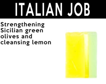 Italian Job Solid Shampoo. Fair Trade Organic Vegan Cruelty-Free Cosmetics. 5% of Proceeds Proudly Go To Grassroots Charities