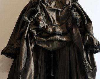 long Skirt Steampunk doll taffetas