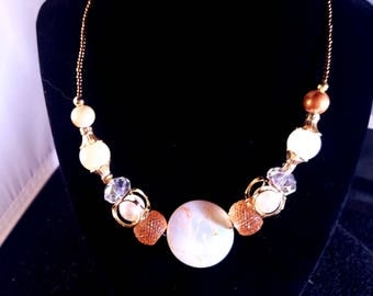 Multicolor statement necklace