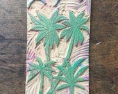 Vintage Art Supply Linoleum Block 1960s  Palm Tree Tropical Hawaiian Theme for Block Printing rubber stamp stamping