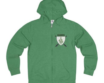 Floral Slytherin Quidditch Full Zip Sweatshirt