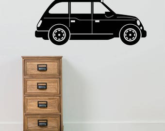 London Taxi Old Style Transport UK New Children Street Wall Stickers Decals B8