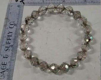 10% OFF 3 day sale Vintage used clear shimmer beaded bracelet