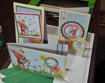 Handmade Childrens Birthday Cards - set of 3