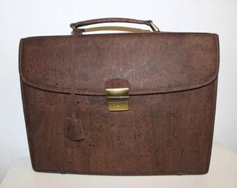 Big Cork Executive Briefcase - VEGAN