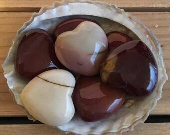 Mookaite Gemstone Small Puffy Heart, 30mm, Healing stone, Spiritual Stone, Healing Stone, Healing Crystal, Chakra