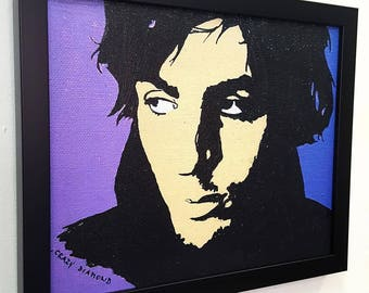 Syd Barrett Crazy Diamond RETRO  - Framed Wall Art Giclee Canvas Mixed Media Paint, Painting, Poster, Print, Artwork,Gift