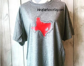 Hurricane Harvey Shirt, Overcome Texas Dry-blend, Moisture Wicking, Unisex T-shirt, Infants, Toddlers, Youth & Plus Sizes