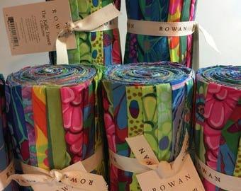 "Kaffe Fabric - Kaffe Fassett Collective Fabric 6"" Bundle Design Strip Fall 2014 Deep Sea 100% Quality Cotton"