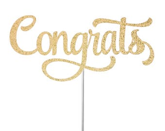 Congrats Cake Topper, Congratulations Cake Topper, Engagement Party Cake Topper, Celebration Cake Topper, Retirement Cake Topper