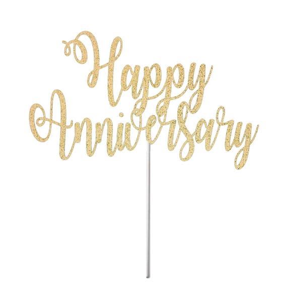 First Wedding Anniversary Celebration Ideas: Happy Anniversary Cake Topper, Anniversary Topper, Wedding