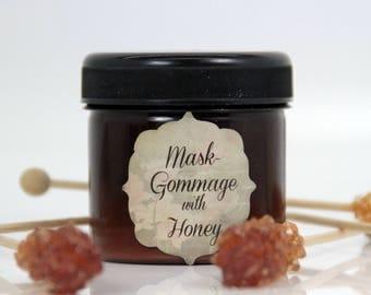 Mask gommage with honey, nourishing mask, purifying face mask