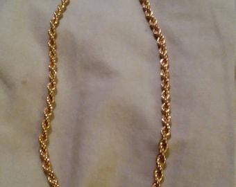 """Monet goldtone chain necklace. 18""""."""