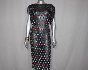 Sheer Black Sparkle Dress Shell