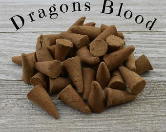 Dragons Blood Incense Cones - Hand Dipped Incense Cones