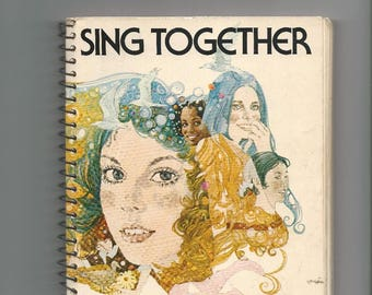 Sing Together, Girl Scout Songbook, 1973 vintage songbook, Girl Scout memorabilia, vintage Girl Scout Songbook