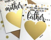 Schwangerschaft zu offenbaren, Vater Scratch Off Card - Schwangerschaft Ankündigung - Opa - nur, was besser, als wenn Sie als Vater - Konfetti